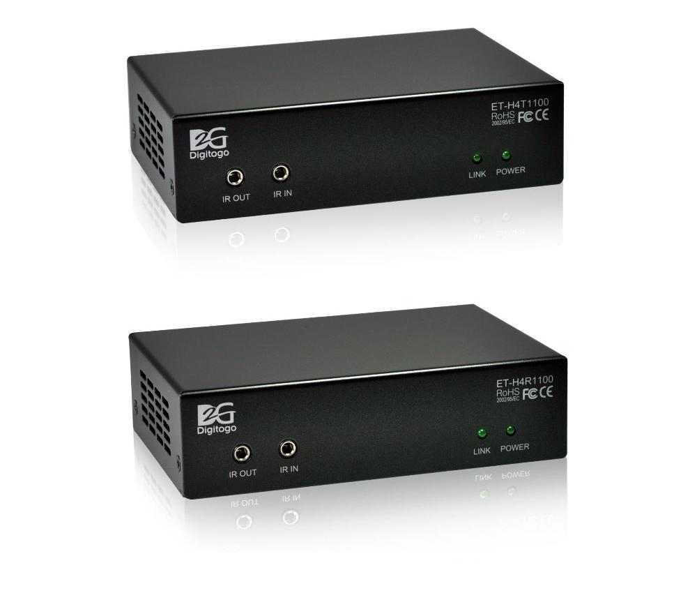 ■販売終了■ 【送受信器セット】HDMI/RS-232C/IR/PoE延長器 【型番】ET-H4T/R1100 ※販売終了