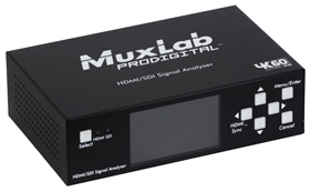 MuxLab(マックスラボ)HDMI2.0/3G-SDIアナライザー 【型番】MUX-A500831 ※お取り寄せ