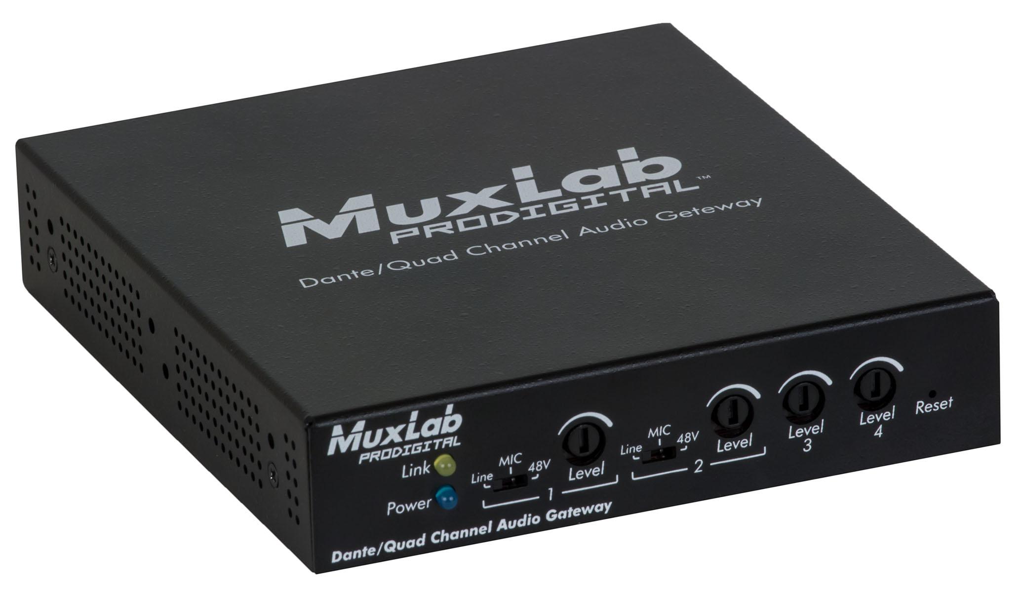 MuxLab(マックスラボ)4入力4出力Danteゲートウェイ 【型番】MUX-DA500765 ※お取り寄せ