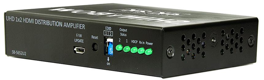 SHINYBOW(シャイニーボー)1入力2出力HDMI2.0スケーラー分配器 【型番】SB-5652U2 ※お取り寄せ