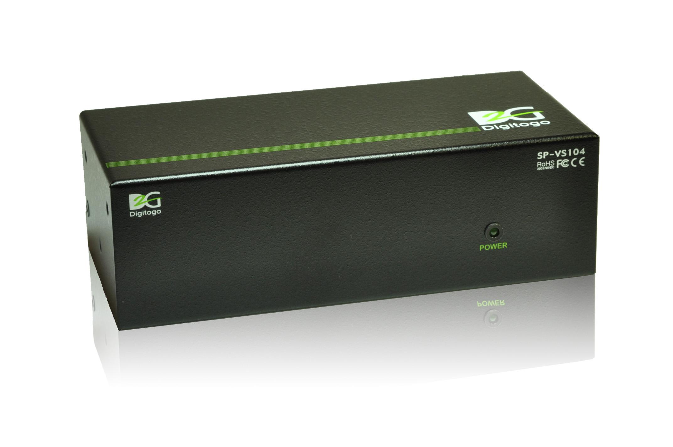 ■販売終了■ 1入力4出力VGA分配器 【型番】SP-VS104 ※販売終了