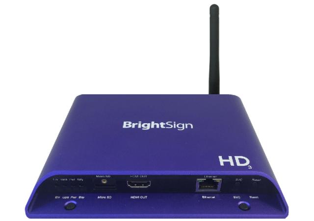 ■在庫限りで販売終了■ BrightSign HD223W(ブライトサイン)WiFi Beaconモジュール搭載モデル 【型番】BS/HD223W ※お取り寄せ