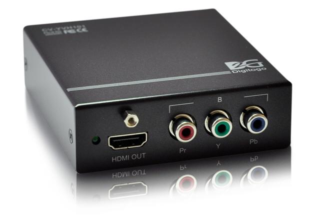 ■半額・直送■アウトレット(新品未使用品/保証なし/サポートなし)■ Digitogo CVシリーズ VGA or コンポーネント/音声 to HDMIコンバーター 【型番】CV-YVH101 ※店頭取り扱い