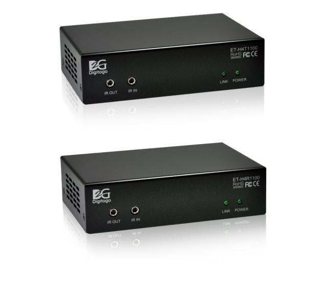 【送受信器セット】HDMI/RS-232C/IR/PoE延長器 【型番】ET-H4T/R1100 ※販売終了