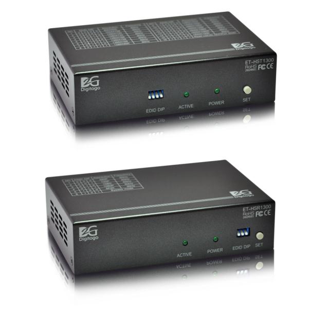 【送受信器セット】スケーラ機能付HDMI 300m延長器 【型番】ET-HST/R1300 ※販売終了