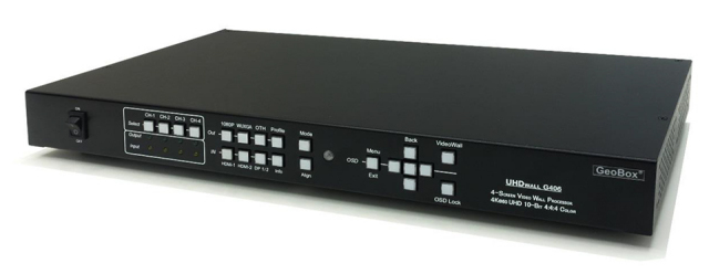 GeoBox G406 4K/60P マルチディスプレイコントローラー(4入力4出力) 【型番】G406 ※お取り寄せ