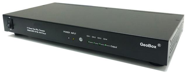 GeoBox G406L 4K/60Pマルチディスプレイコントローラー(1入力4出力) 【型番】G406L ※お取り寄せ