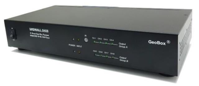 GeoBox G408 4K/60Pマルチディスプレイコントローラー(2入力8出力) 【型番】G408 ※お取り寄せ