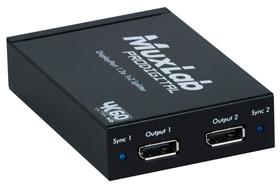 MuxLab(マックスラボ)1入力2出力DisplayPort分配器 【型番】MUX-DD500505 ※お取り寄せ