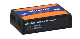 MuxLab(マックスラボ)ツイストペア伝送HDMI/USB2.0延長器(送受セット) 【型番】MUX-EK500457 ※お取り寄せ