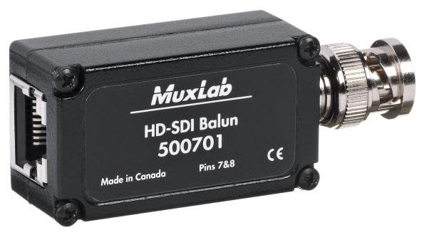 ■在庫限りで販売終了■ MuxLab(マックスラボ)ツイストペア伝送HD-SDI延長器(送受セット) 【型番】MUX-ES500701-2PK ※お取り寄せ