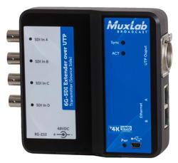 MuxLab(マックスラボ)ツイストペア伝送マルチSDI延長器(送受セット) 【型番】MUX-ES500733 ※お取り寄せ