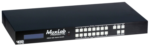 MuxLab(マックスラボ)8入力8出力HDMI2.0マトリックススイッチャー 【型番】MUX-SH500443 ※お取り寄せ
