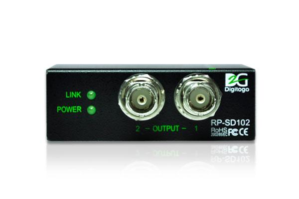 1入力2出力3G-SDIリピーター 【型番】RP-SD102 ※お取り寄せ
