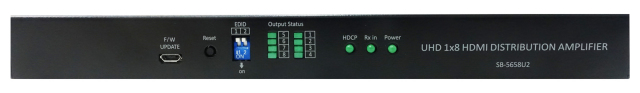 SHINYBOW(シャイニーボー)1入力8出力HDMI2.0スケーラー分配器 【型番】SB-5658U2 ※お取り寄せ