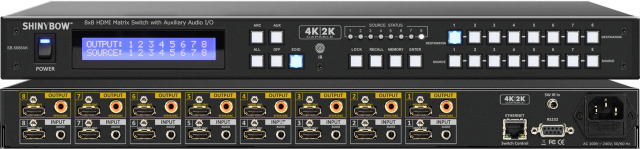 ■販売終了■ SHINYBOW(シャイニーボー)8入力8出力HDMI/AUDIOマトリックススイッチャー 【型番】SB-5688AK ※販売終了