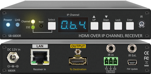 ■販売終了■ SHINYBOW(シャイニーボー)IP対応HDMI受信器 【型番】SB-6800R ※販売終了
