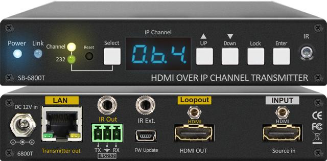 ■販売終了■ SHINYBOW(シャイニーボー)IP対応HDMI送信器 【型番】SB-6800T ※販売終了