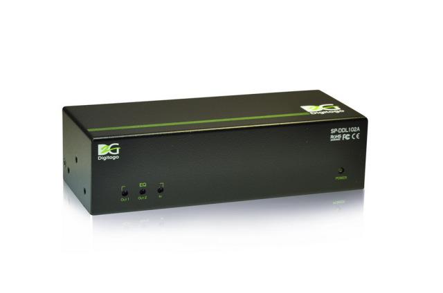 1入力2出力デュアルリンクDVI分配器 【型番】SP-DDL102A ※販売終了