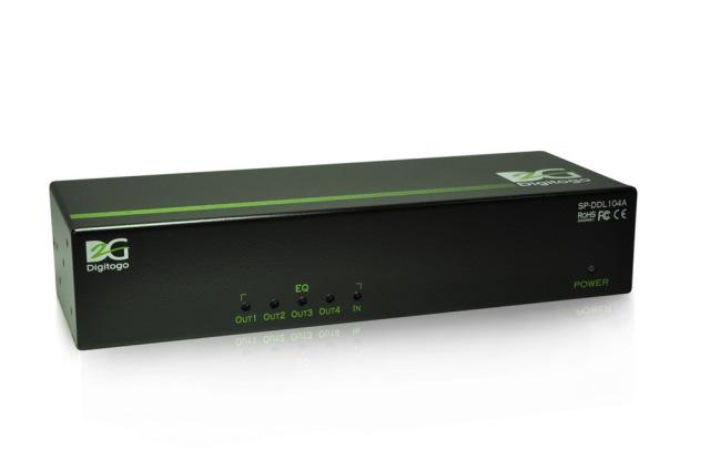 1入力4出力デュアルリンクDVI分配器 【型番】SP-DDL104A ※お取り寄せ