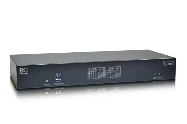 1入力4出力HDMI2.0分配器 【型番】SP-H104A ※お取り寄せ