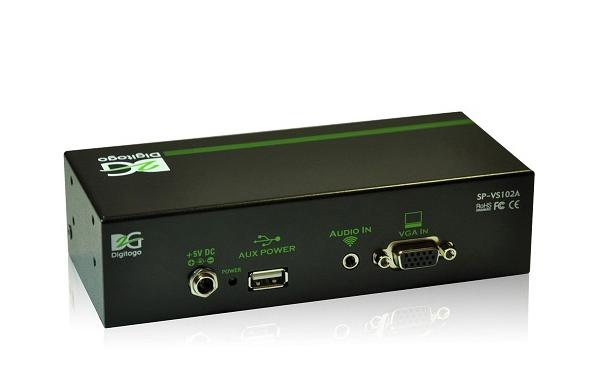 1入力2出力VGA/音声 分配器 【型番】SP-VS102A ※お取り寄せ