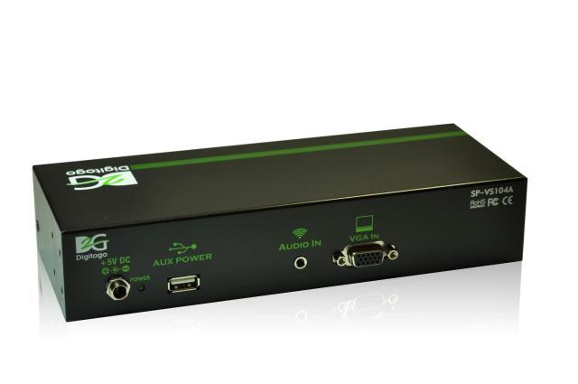 1入力4出力VGA/音声 分配器 【型番】SP-VS104A ※お取り寄せ