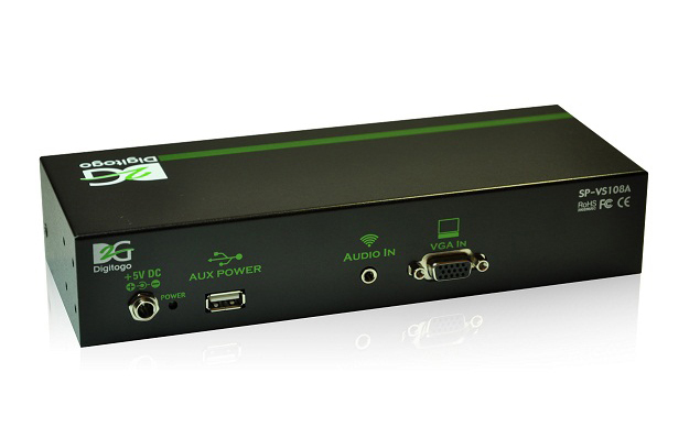 1入力8出力VGA/音声 分配器 【型番】SP-VS108A ※販売終了