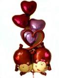 結婚祝い「ラブラブモンキー バルーン」愛の告白、店舗のディスプレイ、コンサート会場を華やかに飾るなど色々なシーンに贈っても最高!