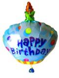 送料無料/誕生日祝「バースデーケーキ バルーン」バルーンギフトにメッセージカードを添えれば素敵なバルーン電報になります。