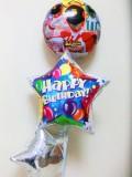 誕生祝バルーンギフト「送料無料ルパンレンジャー・パトレンジャー お誕生祝バルーン」バルーン電報になります。