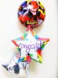 入学・卒園・七五三祝バルーンギフト 「送料無料ルパンレンジャー・パトレンジャー お祝バルーン」 バルーン電報になります。