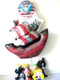 誕生日祝「海賊王に俺はなる!バルーン&バルーンアート」バルーンギフトにメッセージカードを添えれば素敵なバルーン電報になります。