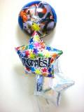 入学祝/送料無料「仮面ライダーフォーゼ お祝バルーン」バルーンギフトにメッセージカードを添えれば素敵なバルーン電報になります。