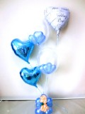 結婚祝・結婚式場祝電・バルーンギフト「セレブ・サムシングブルー ブライダル・バルーン」バルーン電報になります。