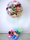 結婚祝・誕生日祝・入学祝・バルーンギフト「ポテトヘッドの送料無料トイスートリー ジャンボバルーン&バルーアート」バルーン電報に。