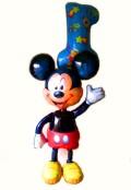誕生日祝「ジャンボミッキー ファーストバースデー」バルーンギフトにメッセージカードを添えれば素敵なバルーン電報になります。