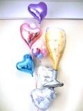 結婚祝・結婚式場祝電・バルーンギフト「セレブ・シャンパン&ハート ブライダル・バルーン」バルーン電報になります。