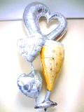 結婚祝・結婚式場祝電・バルーンギフト「キラキラビックハート 乾杯ブライダル・バルーン」バルーン電報になります。