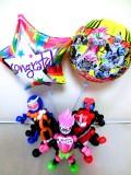 入学祝・卒業祝・七五三・卒園祝・卒業祝「仮面ライダー・エグゼイド お祝バルーン&バルーンアート」バルーン電報になります。