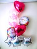 開店お祝「送料無料 キラキラ&ピンクのお祝 バルーン」素敵なバルーン電報になります。