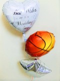 祝電・結婚式場・バルーンギフト・バスケットボール部・スラムダンク「送料無料バスケットボール結婚祝バルーン・ミニ」