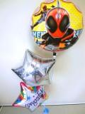 入学祝・卒園祝・七五三・入園祝・バルーンギフト「送料無料 仮面ライダーゴーストお祝バルーン」バルーン電報になります。
