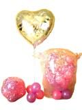 結婚祝「ブライダルハート&スパークバルーンセット」メッセージを添えて贈れば素敵な「バルーンの電報」になります。