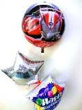 お誕生日祝「送料無料 仮面ライダー・ドライブ バースデーバルーン」バルーン電報になります。