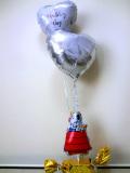 結婚祝・祝電・結婚式場・ウッドストック「送料無料 スヌーピーブライダル・バルーン」バルーン電報になります。