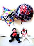 入学祝/送料無料「仮面ライダーウィザード・バルーンアート&お祝いバルーン」素敵なバルーン電報になります。