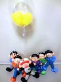 おそ松さん・十四松・から松・誕生日祝・結婚祝・入学祝「六つ子のバルーンアート&ふわふわバルーン」バルーン電報になります。