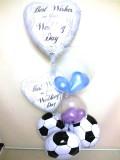 結婚祝/送料無料「DXサッカー・ウエディングバルーン」素敵なバルーン電報になります。