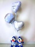 結婚祝・祝電・プロ野球電報・ドラゴンズ・ドアラ「送料無料ベースボール・コアラ ブライダル・バルーン」バルーン電報になります。